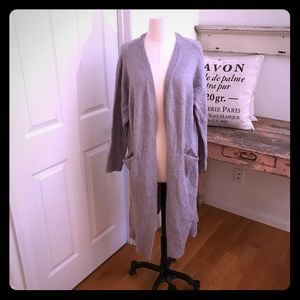 Sweaters - Lf Store seek grey cardigan. New with tag size S